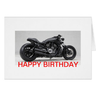 Harley Davidson birthday map Card