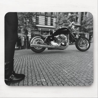 Harley Davidson (Black and White) Mouse Pad