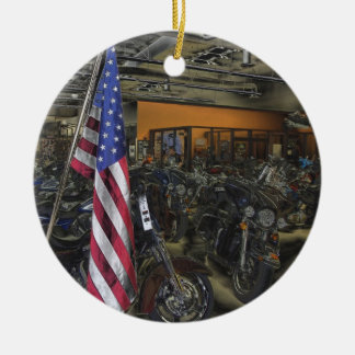 Harley Davidson Ceramic Ornament