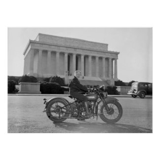 Harley Davidson Motorcycle - First Woman Poster