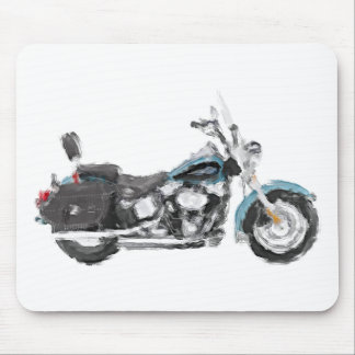 Harley FLSTC Heritage Softail Hand Painted Art Pad Mouse Pad