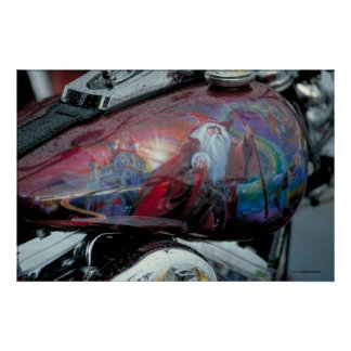 Harley Fuel Tank - S.D. Poster