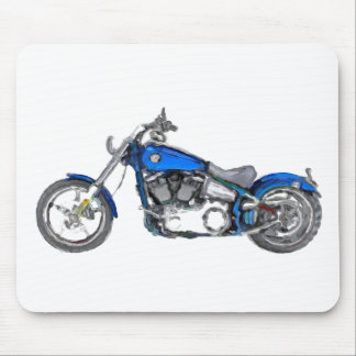 Harley FXCW Softail Hand Painted Art Brush Pad Mouse Pad