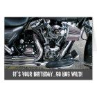 Harley motorcycle birthday card