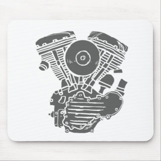 Harley Panhead Motor Drawing Mousepad