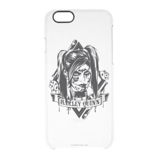 Harley Quinn Badge Clear iPhone 6/6S Case