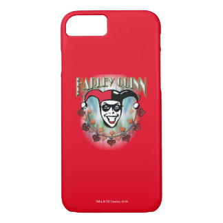 Harley Quinn - Face and Logo iPhone 7 Case