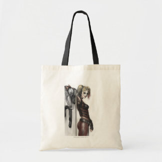 Harley Quinn Illustration Tote Bags