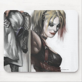 Harley Quinn Illustration Mouse Pad