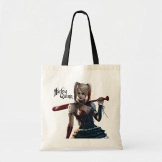 Harley Quinn With Bat Budget Tote Bag