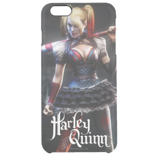 Harley Quinn With Bat Clear iPhone 6 Plus Case