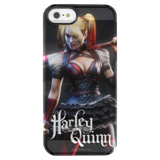 Harley Quinn With Bat Clear iPhone SE/5/5s Case