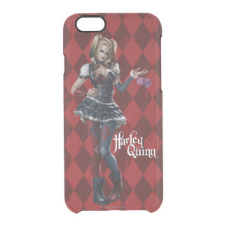 Harley Quinn With Fuzzy Dice Clear iPhone 6/6S Case