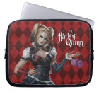 Harley Quinn With Fuzzy Dice Laptop Sleeve