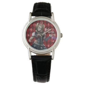Harley Quinn With Fuzzy Dice Wrist Watches