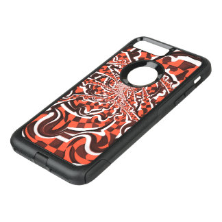 Harley Quinn's Peppermint Candycan Kissed Fractals OtterBox Commuter iPhone 8 Plus/7 Plus Case
