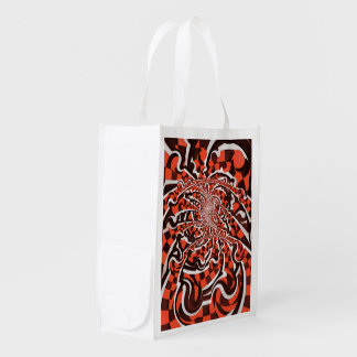 Harley Quinn's Peppermint Candycan Kissed Fractals Reusable Grocery Bag