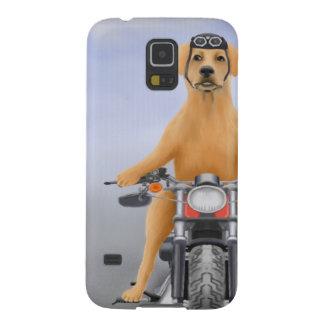 Harley riding Labrador Galaxy S5 Case
