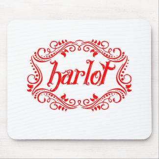 Harlot White Mouse Pad