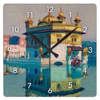 Harmandir Sahib(Golden Temple), Hiroshi Yoshida Square Wall Clock
