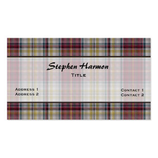 Harmon Dress Traditional Tartan Plaid Custom Pack Of Standard Business Cards