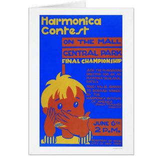 Harmonica Central Park 1937 WPA Card