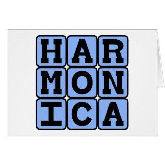 Harmonica, Musical Instrument Card