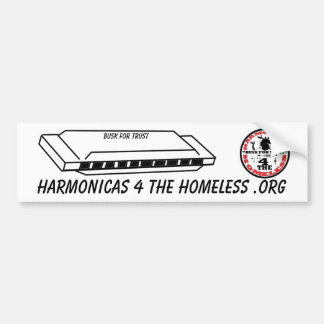 Harmonicas for the Homeless Bumper Sticker