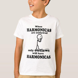 Harmonicas Outlawed Tee Shirts