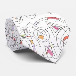 Harmonious-Abstract Art Print Tie