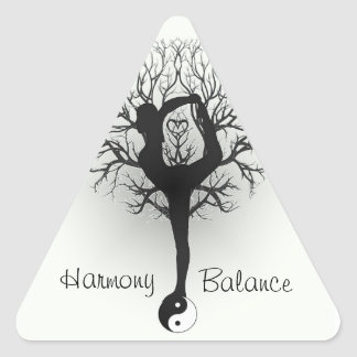 Harmony and Balance Customizable Triangle Sticker