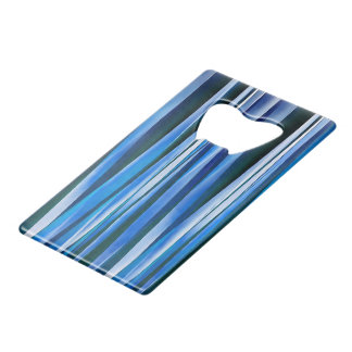Harmony and Peace Blue Striped Abstract Pattern