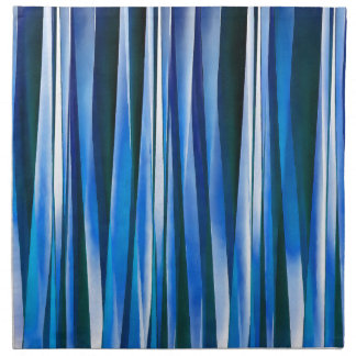 Harmony and Peace Blue Striped Abstract Pattern Napkin