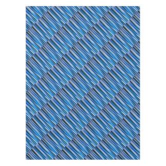 Harmony and Peace Blue Striped Abstract Pattern Tablecloth