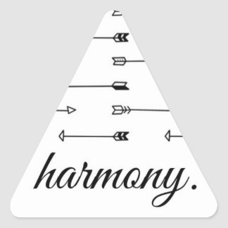 Harmony arrow print pattern arrows hipster quote triangle sticker