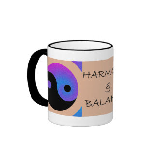 HARMONY & BALANCE - BUMPER STICKER RINGER MUG
