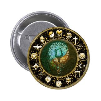 Harmony, Balance, Peace on Earth, Give Peace 6 Cm Round Badge