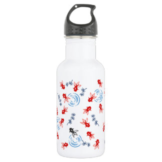 < Harmony handle goldfish >Goldfishes of Japanese 532 Ml Water Bottle