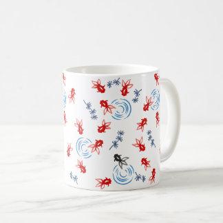 < Harmony handle goldfish >Goldfishes of Japanese Coffee Mug