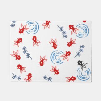 < Harmony handle goldfish >Goldfishes of Japanese Doormat