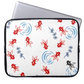 < Harmony handle goldfish >Goldfishes of Japanese Laptop Sleeve
