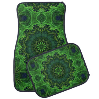 Harmony in Green Car Mat
