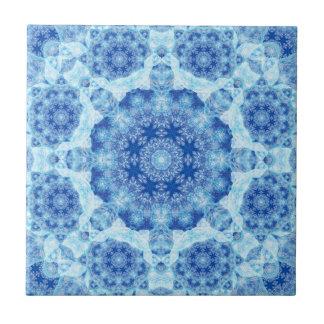 Harmony of Ice Mandala Ceramic Tile