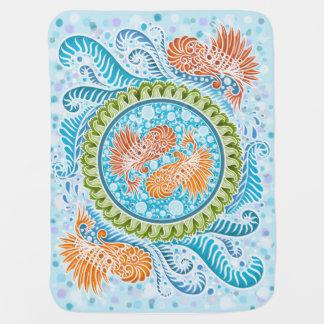 Harmony of the seas ,boho,hippie,bohemian baby blanket