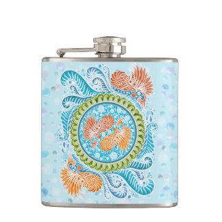 Harmony of the seas ,boho,hippie,bohemian hip flask