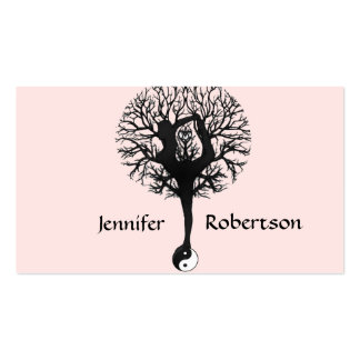 Harmony, Peace and Balance Yoga Tree Double-Sided Standard Business Cards (Pack Of 100)