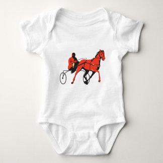 harness horse cart racing retro baby bodysuit