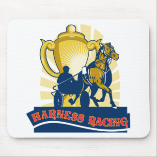 Harness horse race racing championship cup mouse pad