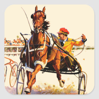 Harness Race Square Sticker