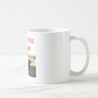 harness racing basic white mug